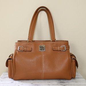 Dooney & Bourke Tan Camel Satchel Purse RARE Large
